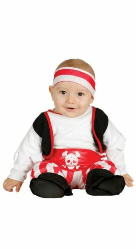 Boys Toddlers Baby Pirate Caribbean Fancy Dress Costume Infants Outfit