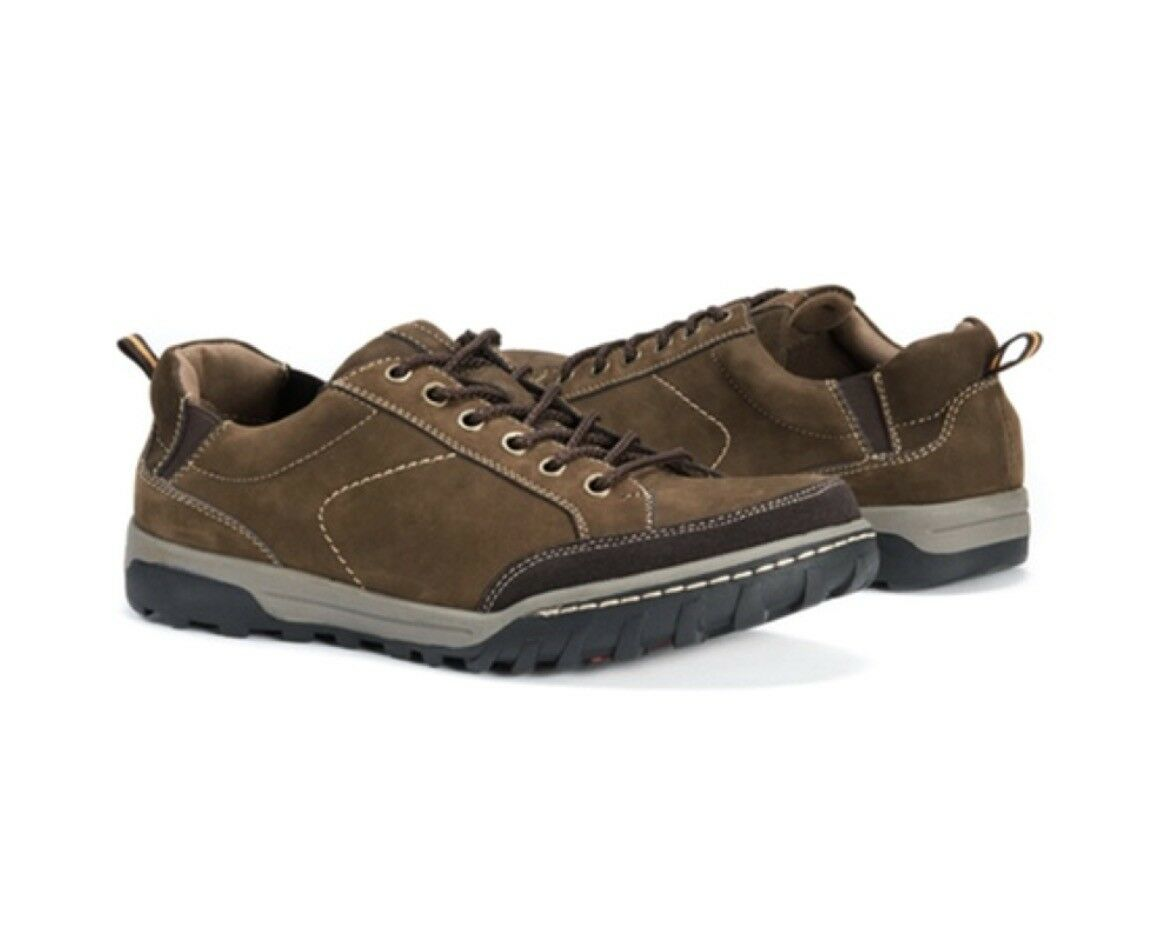 b8dfd350a82d0f Muk Luks Men s Max Leather Fashion Sneakers shoes Coffee Sz 9 New In Box  d71902 ...