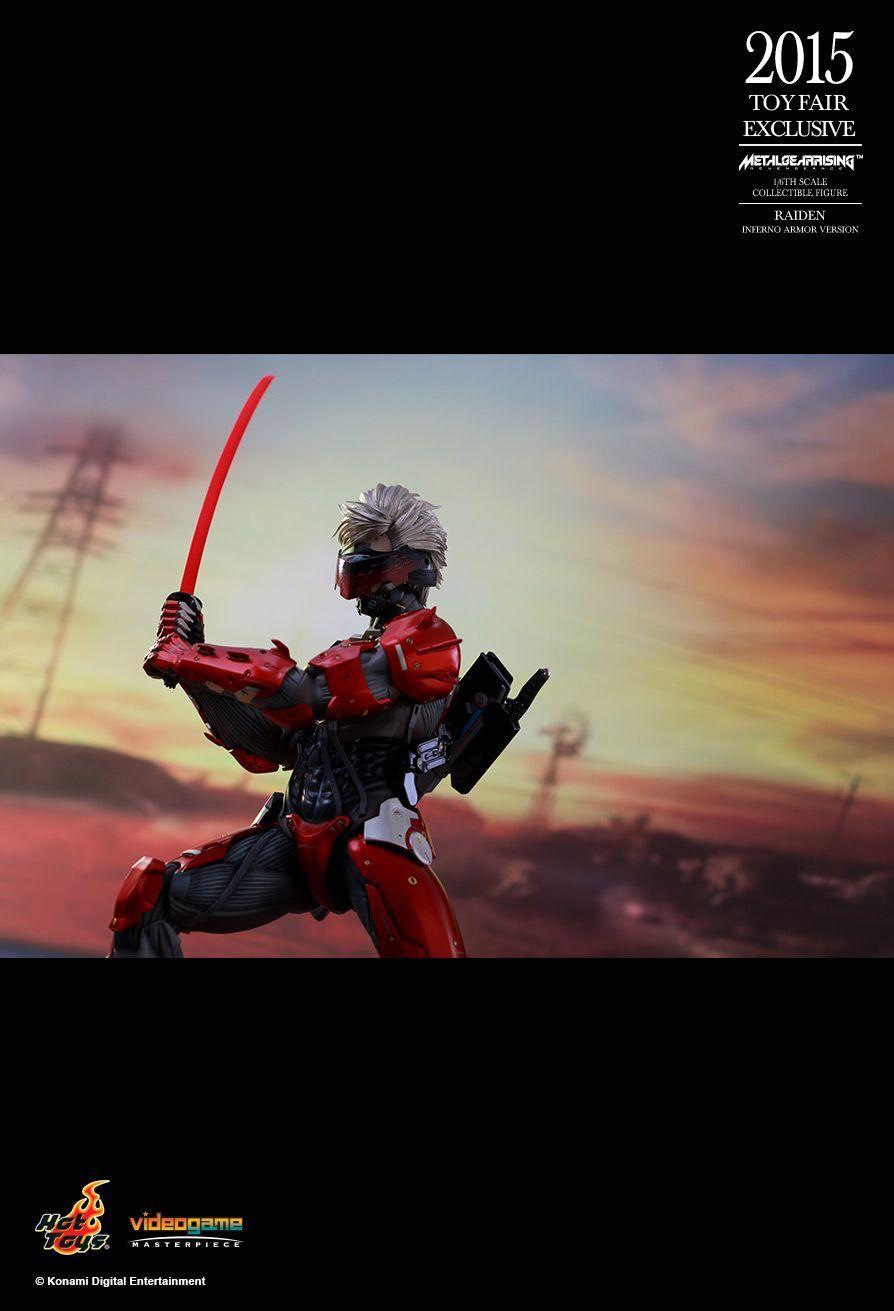 Caliente giocattoli 1 6 2015 giocattolo Fair Exclusive VGM19 Metal Metal Metal Gear Rising Revengeance Raiden f3c486