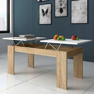Mesa de centro elevable separada por dos partes mesita comedor salon ganso ebay - Mesita de comedor ...