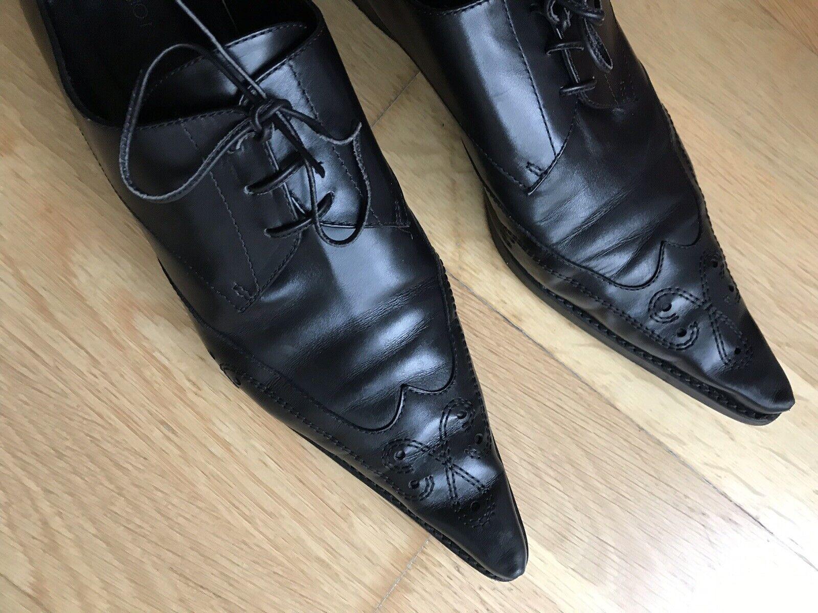 Sergio Rossi Schuhe Budapester spitz Halbschuhe Gr 40