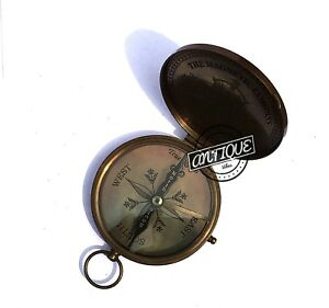 Magnetic Enthusiastic New Brass Pocket Compass W/ Lid Nautical Camping The Latest Fashion Push Button