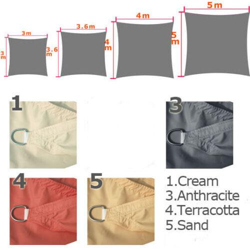 Waterproof Sun Shade Sail Garden Patio Sunscreen Awning Canopy Screen UV Block