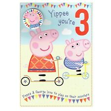 Peppa Pig Yippee You Re 3 Today 3rd Birthday Card Badge Gift