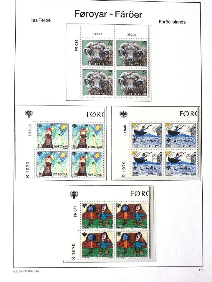 Færøerne, postfrisk, Øvre marginalblokke