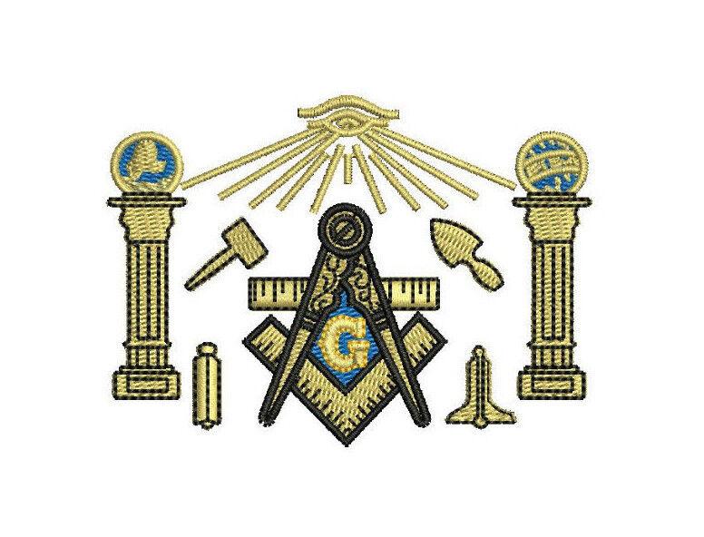 60c78a88 Shriner Freemason Masonic symbols Embroidered Polo Shirt Embroidered gift