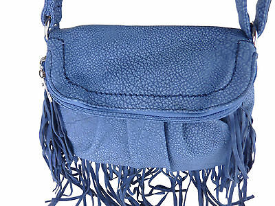 Franzi kleine Fransentasche Handtasche Fransen Umhängetasche Leder Optik E113
