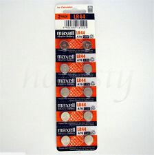 10pcs Battery Coin Cell For LR44 1.5V Maxell A76 L1154 AG13 357 SR44 303 Battery