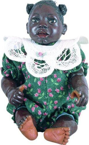 ABC Mo Afro African American Brown Black Dark New ResinBaby Girl Doll