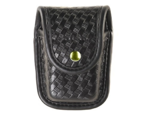 Bianchi 22191 Basketweave Black Pager//Glove Pouch w//Brass Snap Model 7915