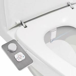 Bidet Attachment Non Electric Cold Water Bidet Toilet Seat Attachment Brushed Ebay