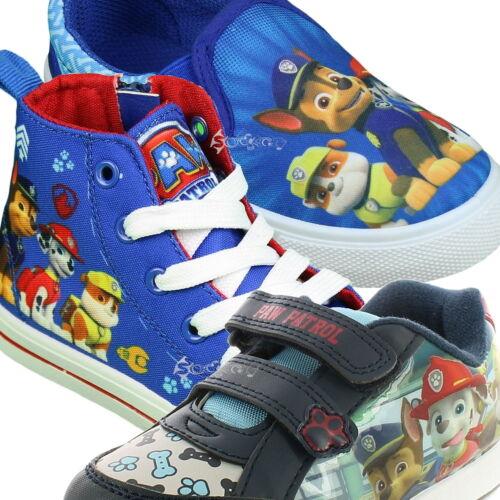 Garçons paw patrol toile baskets chaussures tailles 5-13 enfants filles neuf cadeau