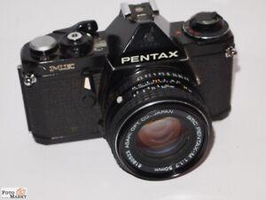 Pentax-ME-black-Objektiv-SMC-Pentax-M-1-7-50-mm-Spiegelreflexkamera