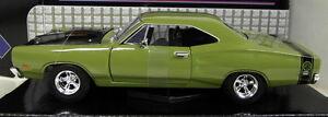 Motormax-1-24-SCALA-73200AC-1969-Dodge-Coronet-SUPER-BEE-Verde-Modello-Diecast-Auto