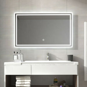 Groovy Details About Led Bathroom Lighted Mirror Illuminated Wall Touch Light Vanity Makeup 48X24 Beutiful Home Inspiration Xortanetmahrainfo
