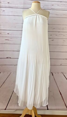 $495 RAMY BROOK Size XS CATALINA White Pleated Hal