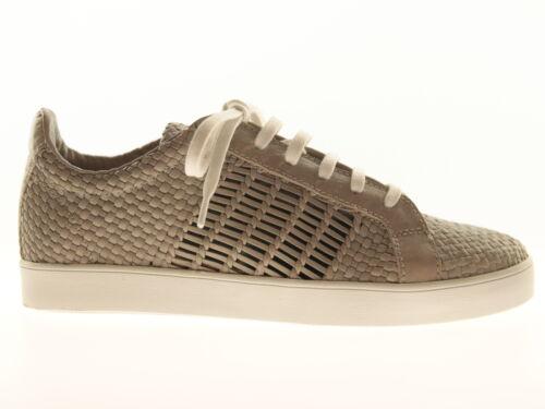 Allan K Fann Unisex Schuhe Sneaker Freizeitschuhe Grau Leder Made in India