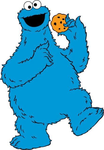 Cookie Monster,Sesame Street,Heat Transfer,Iron On (10.75
