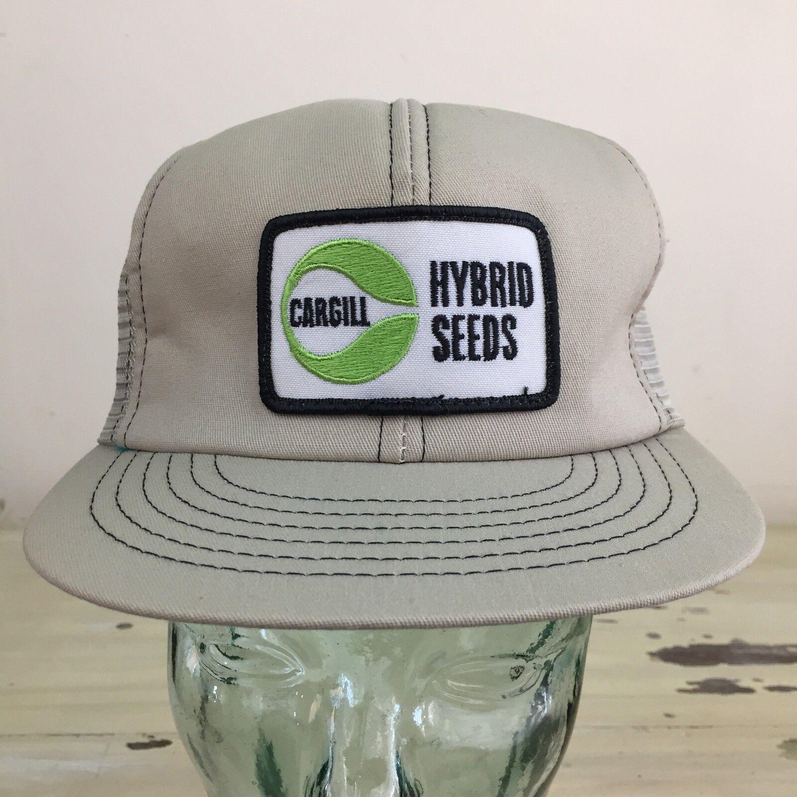 CARGILL - NWOT Vtg Hybrid Seeds Patch Gray Mesh SnapBack Farm Workwear Hat Cap
