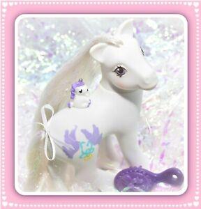 ❤️My Little Pony MLP G1 Vtg 1989 Pony Bride Wedding Bridal White Purple Doves❤️