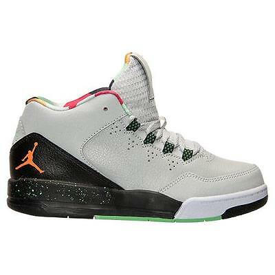 best website 23f21 025e4 AIR JORDAN FLIGHT ORIGIN 2 BP 705161 015 GREY/BRIGHT MANDARIN-BLACK-POISON  GREEN | eBay