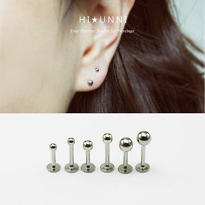 1Pc 2mm//3mm//4mm Round Tragus Lip Monroe Helix Stud Cartilage Earring Piercing