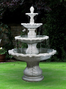 Image Is Loading 88 034 Large Clical Finial Fountain Outdoor Concrete