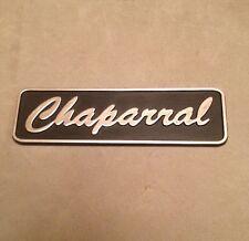 Old Chaparral Boat Plastic Emblem~Dash~Interior~Black~Classic Power Boat~NOS