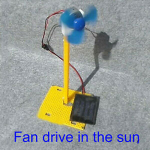 DIY Solar Power Generator Fan Solar Teaching Student Science Education Model Kit