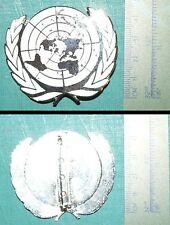 F  Insigne Badge de Béret de casque bleu ONU / UN beret insignia - Crest