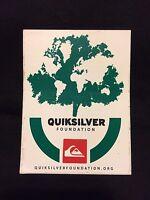 Quiksilver Foundation Sticker-black White, Green & Red New/unused Rare Sticker