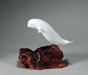 MAKO SHARK Sculpture New Direct from JOHN PERRY 6 in long Pellucida Figurine