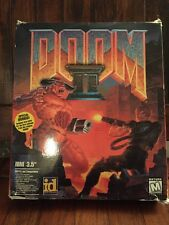 Doom II (PC, 1994) IBM 3.5 Big Box, Floppy Version With Manual & Strategy Guides