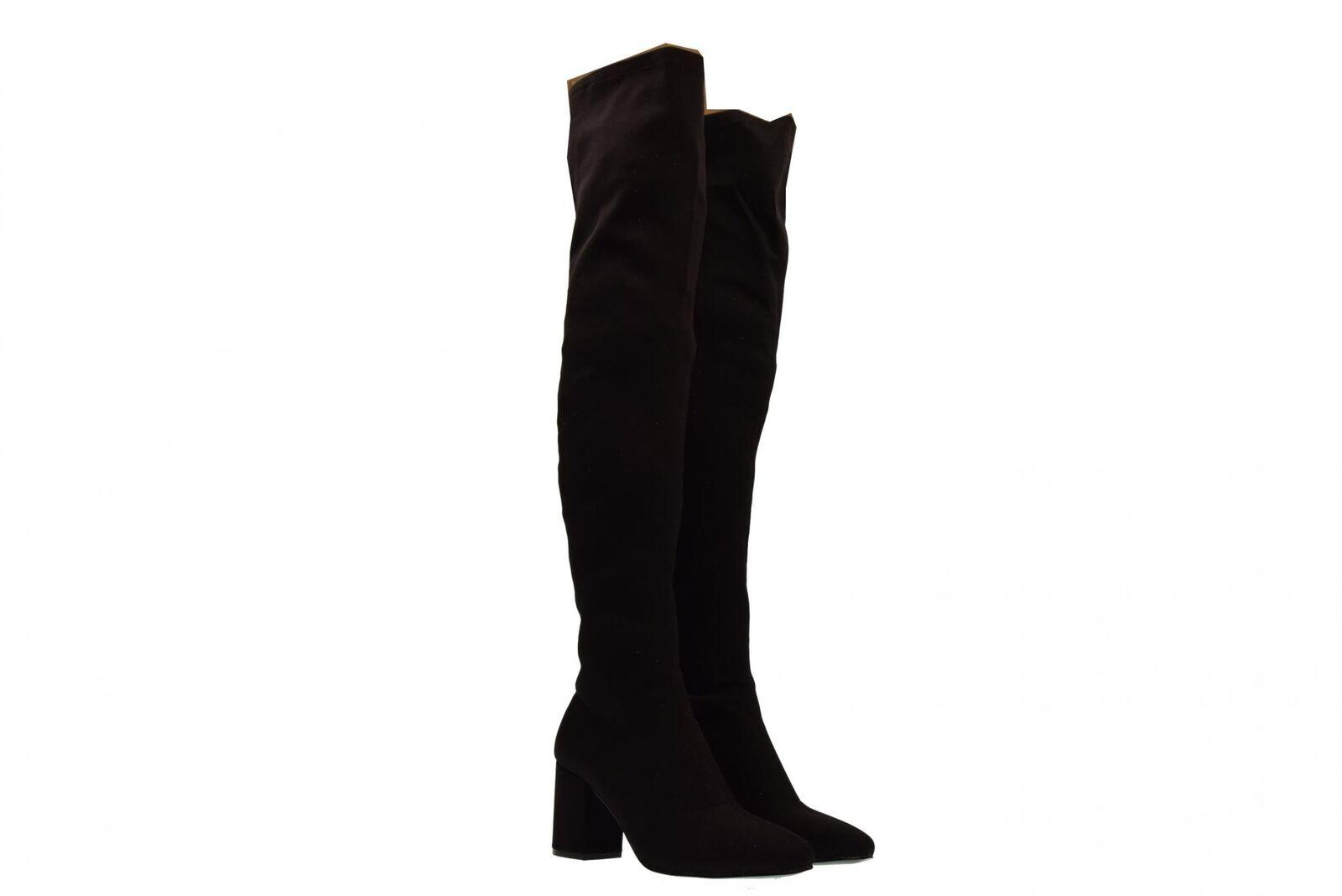 Gioseppo A18g Damenschuhe hochelastischer knielanger Stiefel 46485 mittlerer Abs