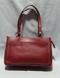 GUY-LAROCHE-Red-Multi-Compartment-Shoulder-Bag
