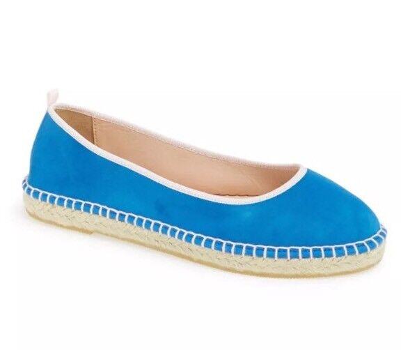 SJP By Sarah Jessica Parker Billie Suede bluee Flats 2204 Size 36