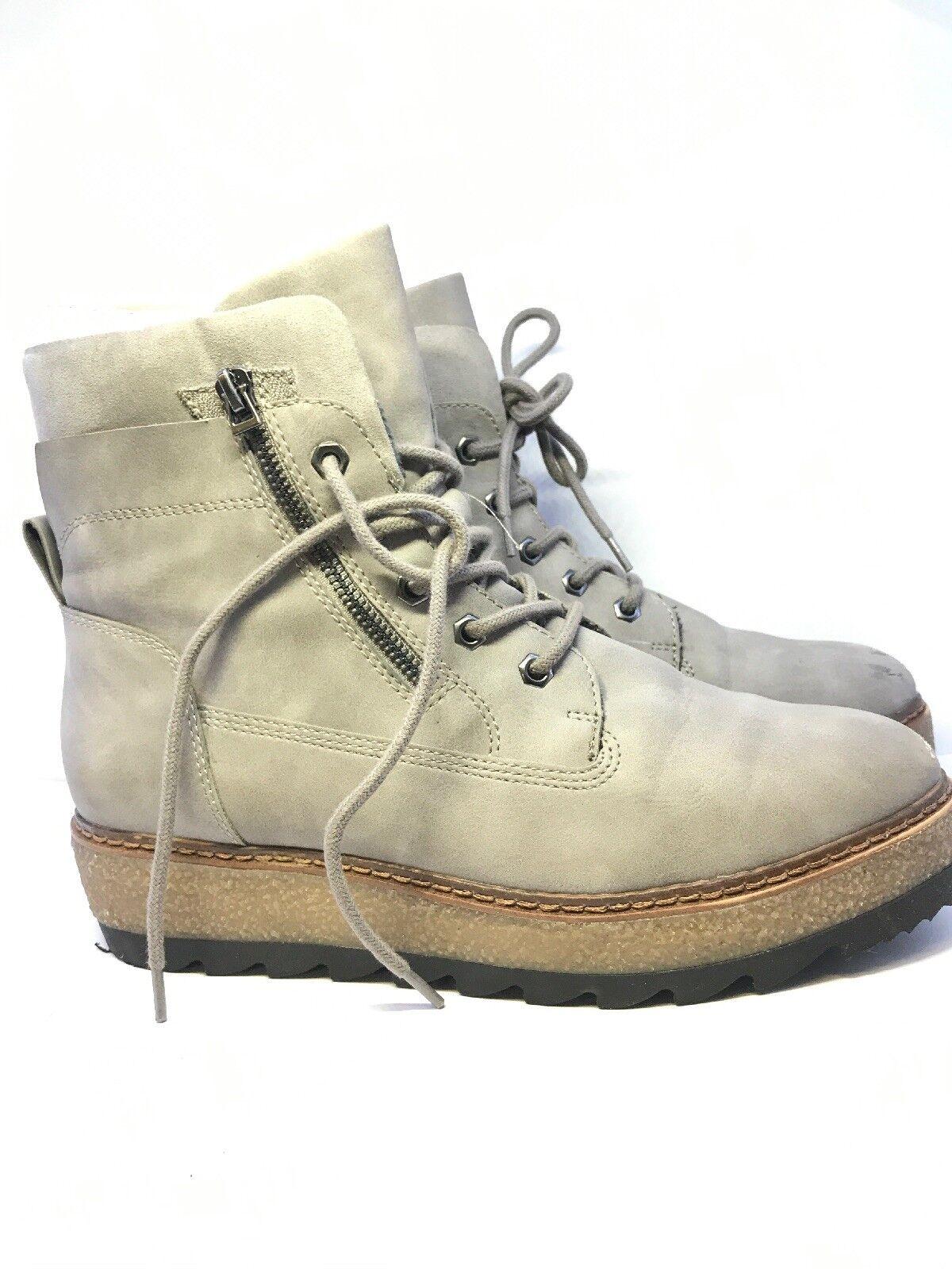 Tamaris Womens Grey Suedette Platform Boots Size