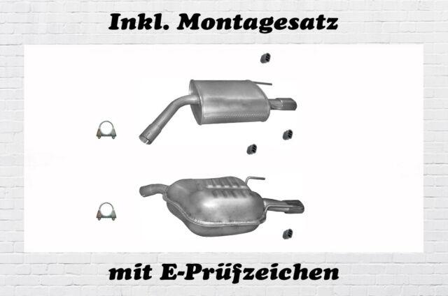 Opel Vectra C 2.0 2.2 Direct 3.2 V6 Endschalldämpfer Auspuff  Chrom Montagesatz