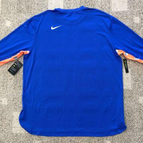 Nike Dri-FIT Element Mens Long Sleeve Running Top Hyper Royal//Cone//Black 2XL