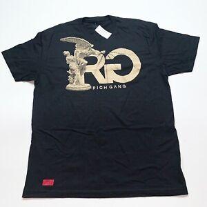 Rich-Gang-Men-s-100-Authentic-T-shirt-Size-Large-Color-Black