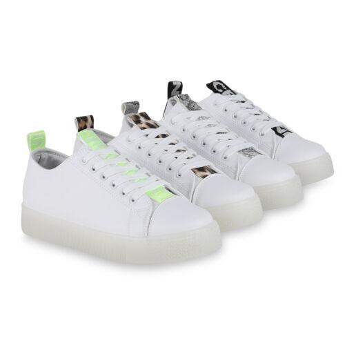 Damen Plateau Sneaker Turnschuhe Schnürer Prints Plateauschuhe 825994 Schuhe