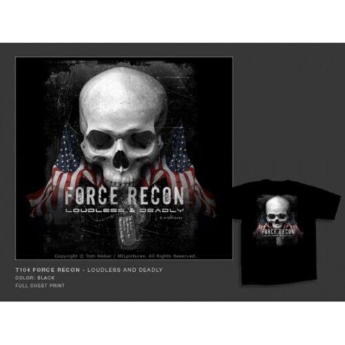 T-Shirt MILpicture schwarz bedruckt Sommer Shirt  Herren Kurzarm Aufdruck Motiv