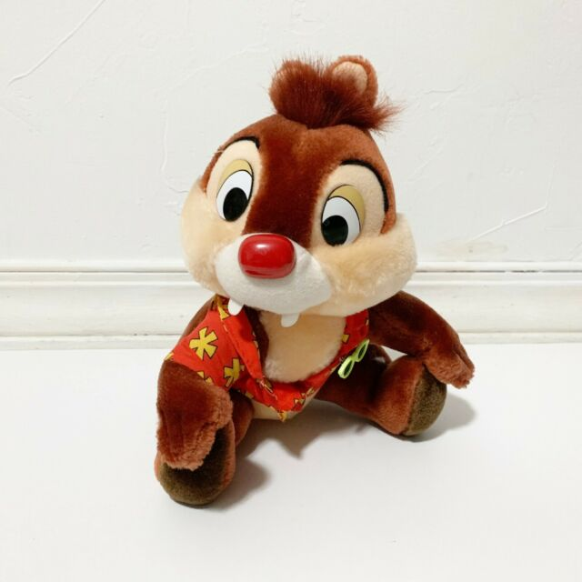 Vintage Chip & Dale Rescue Rangers Chip Hawaiian Disney World Park Plush 11 in