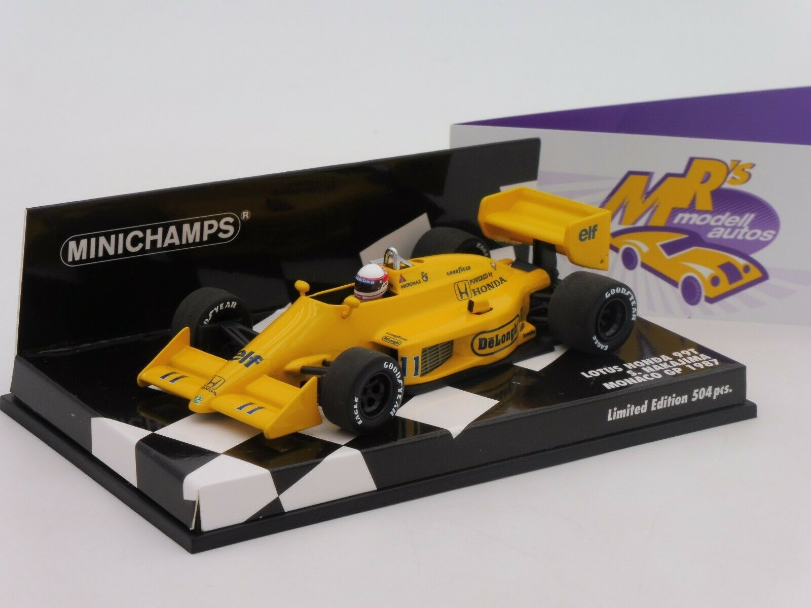 MINICHAMPS 400870011    Lotus Honda 99 T Nº 11 S Nakajima-Monaco Gp 1 43 NEUF  le réseau le plus bas