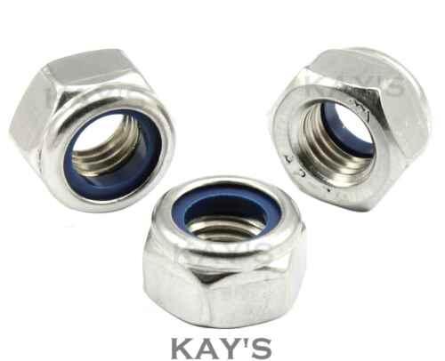 3,4,5,6,8,10,12,16,18,20 RONDELLE Nylon Inserire Dadi Di Bloccaggio A2 Acciaio Inox M2.5