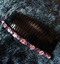 QUALITY Hair Comb using Swarovski Crystal Hairpin Party Fashion Purple Long 2