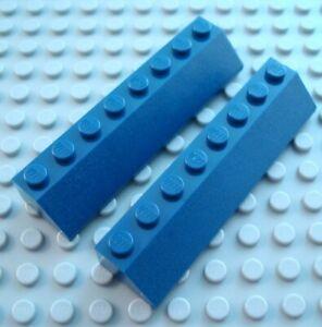 LEGO Lot of 2 Light Gray 2x8 Roof Slopes