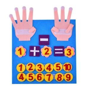 Kind Montessori Spielzeug Filz Finger Zahlen Mathe Kinder Zählen Lernen KleinBPA