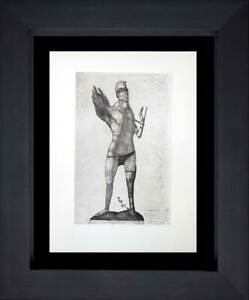 """Paul KLEE Lithograph LTD Edition """"The Hero with the Wing"""" w/FRAME Included"""