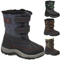 Boys Kids Winter Casual Mucker Wellington Warm Fur Snow Ankle Boots Shoes Size